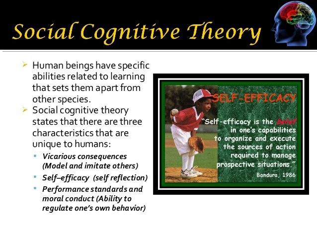 albert bandura social cognitive theory Social cognitive theory research papers look at albert bandura's theory that focuses on the mental state, and behaviors of human learning.