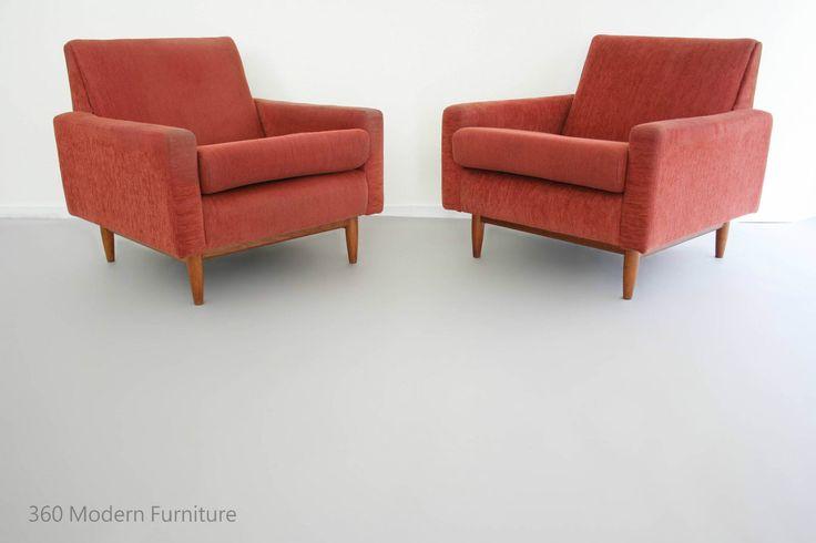 Mid Century PARKER Armchairs X2 Retro Vintage Lounge Chairs Danish Eames era in Home & Garden, Furniture, Sofas, Couches   eBay 360 Modern Furniture