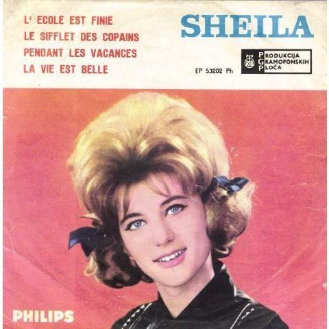 Sheila - L'école est finie - 45T (EP 4 titres) 1963