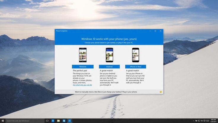 Phone Companion App for Windows 10