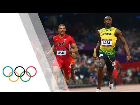 Jamaica Break Mens 4x100m World Record - London 2012 Olympics - YouTube