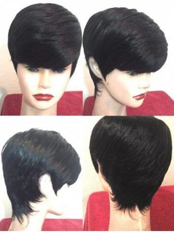 Short Side Fringe Straight Synthetic Wig