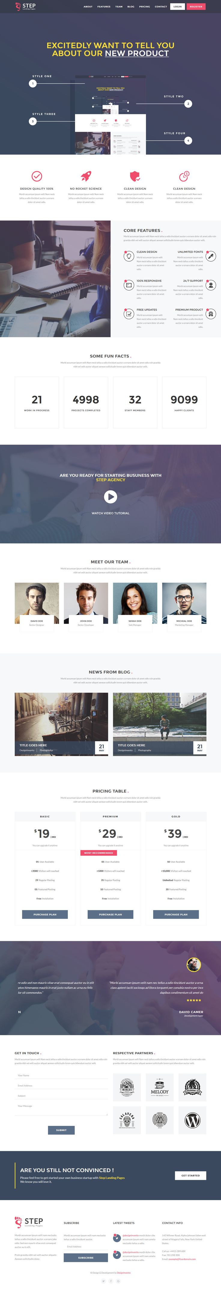 Step - Startup HTML Landing Page Template. Live Preview & Download: https://themeforest.net/item/step-startup-html-landing-page-template/16692048?ref=ksioks
