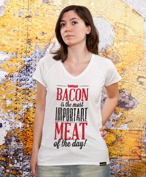 Bacon Vneck Womens tshirt mom bacon bacon tshirt mom by store365