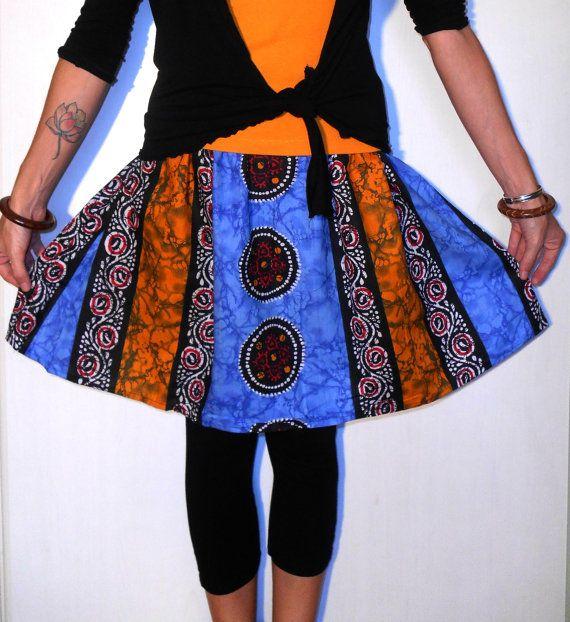 https://www.etsy.com/listing/205659969/handmade-clothing-skirt-ethnic-tribal?ref=shop_home_active_1 #Handmade #clothing #skirt #ethnic #tribal #wax #printed by #ITINLab #fabulous #skirt