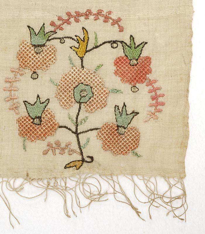 Antique Domestic Ottoman Embroidered Textile, c. 1900.