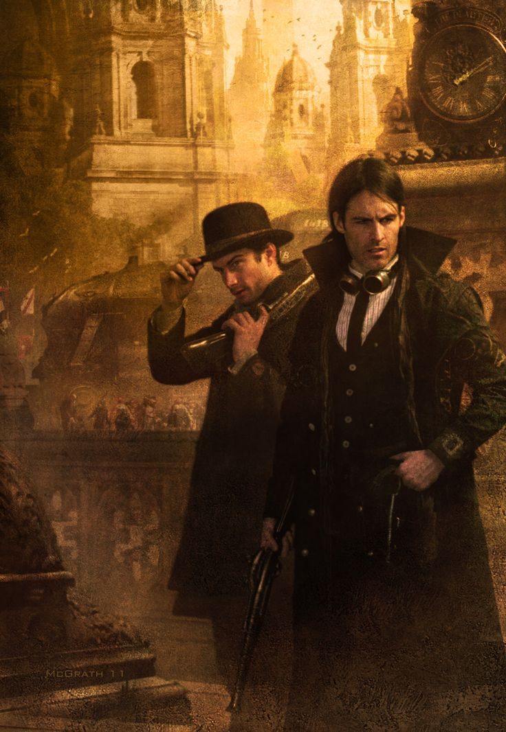 Cover for The Alloy of Law by Brandon Sanderson. Cover art by Chris McGrath.  #Steampunk
