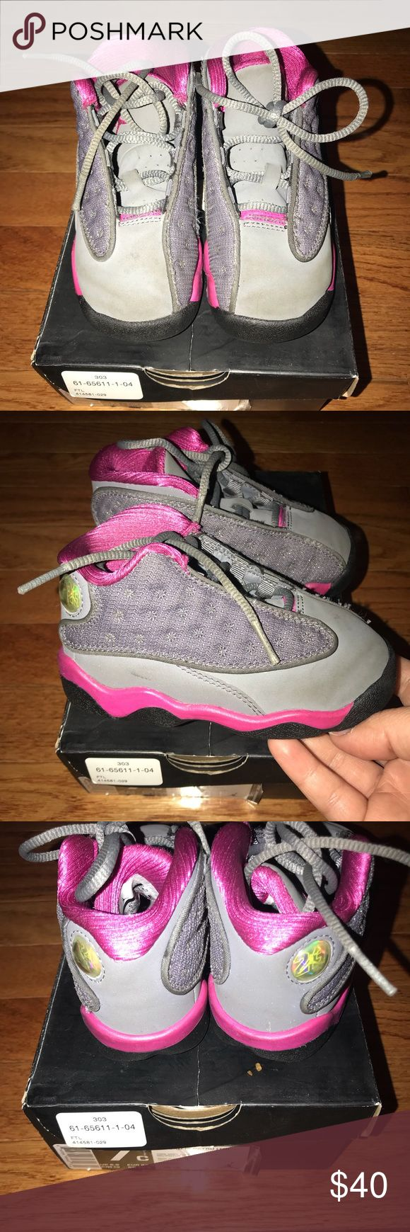 Jordan retro 13 Jordan retro 13 in good condition size 7c. Comes with original box. In need of a good cleaning. Color is cool grey/fusion pink. Jordan Shoes Sneakers