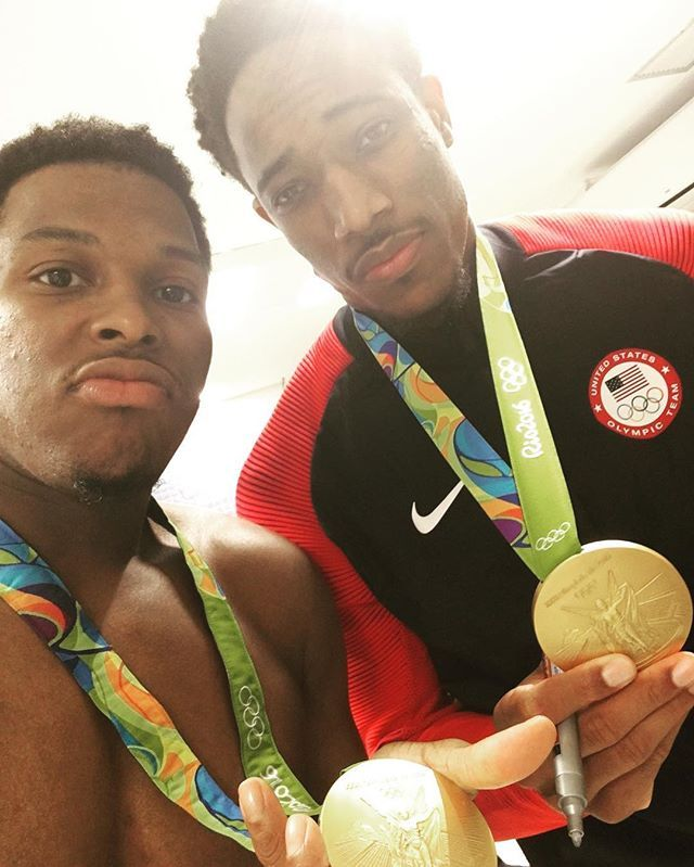 DeMar Derozan and Kyle Lowry are GOLD Medalists.