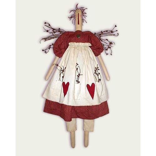 Free Raggedy Ann Doll Pattern   Primitive Raggedy Ann Angel Doll Pattern Pip Berries Sewing