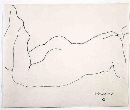 Eduardo Chillida: Reclining Woman, 1950