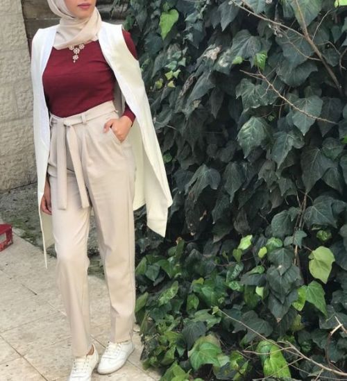 Dressy pants with hijab – Just Trendy Girls