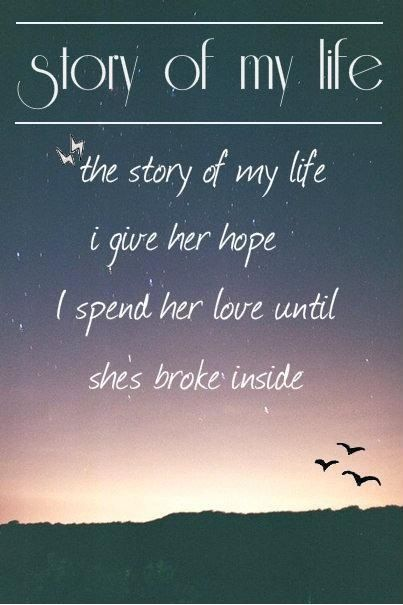 Story Of My Life One Direction Lyric Art | www.imgkid.com ...