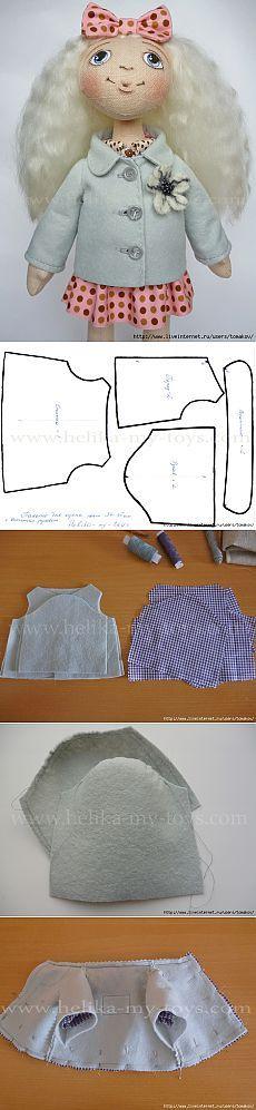 MK.  Escudo con mangas para vtachnymi suba 34-35 cm muñecas