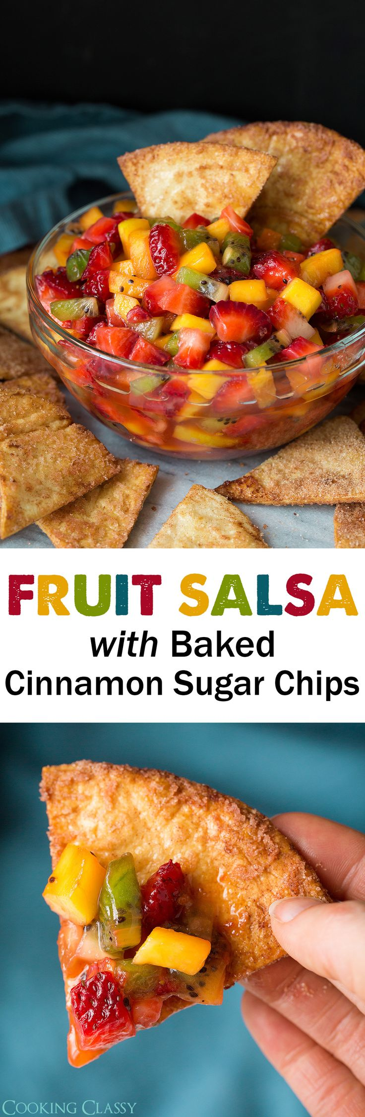Fruit Salsa with Baked Cinnamon Sugar Chips