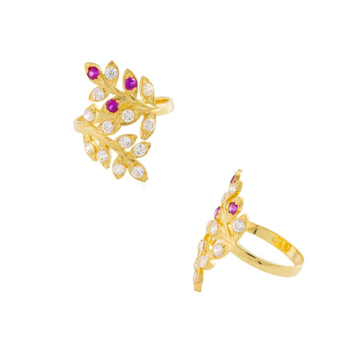 22carat Yellow Gold and CZ Stones Ladies Ring - Floral Design   www.MarketOrders.net   #MarketOrders #MO #B4B #Business4Business #UK based #22carat #22ctgold #Gold #Jewellery #Online #Platform #Marketplace #Connecting #Retailers #SMEs and #Manufacturers #India #Singapore #Dubai #Worldwide getting #Best #Price for your #Business #Customers using #New #Technology  #Rings #Ladies #CZStones