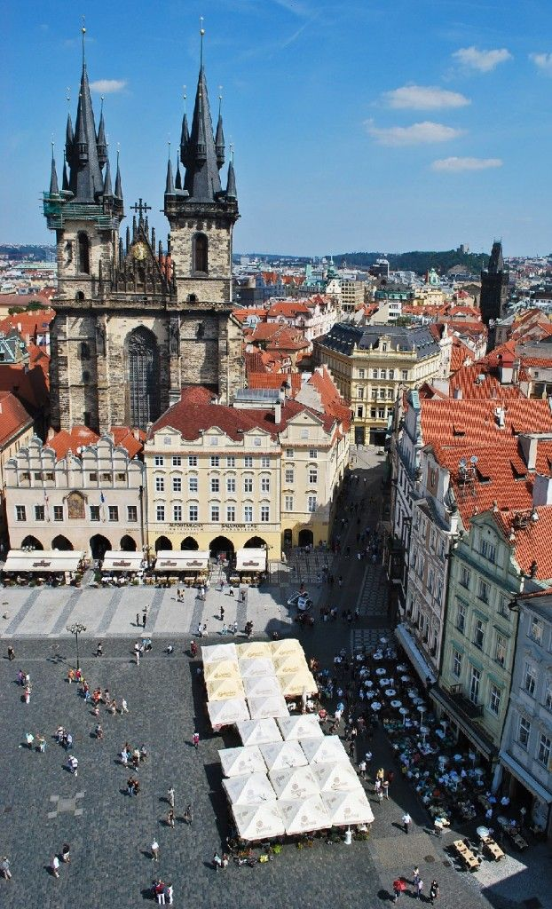 Old Town Square, Prague - Dating back to the 12th century, this Medieval square was inscribed to the UNESCO World Heritage List in 1992.