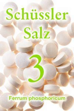 Erfahren Sie, wie wichtig das Schüssler Salz 3, Ferrum phosphoricum, bei Eisenmangel ist, wie das Schüssler Salz Nr. 3 die Sauerstoffzufuhr auszugleicht ...