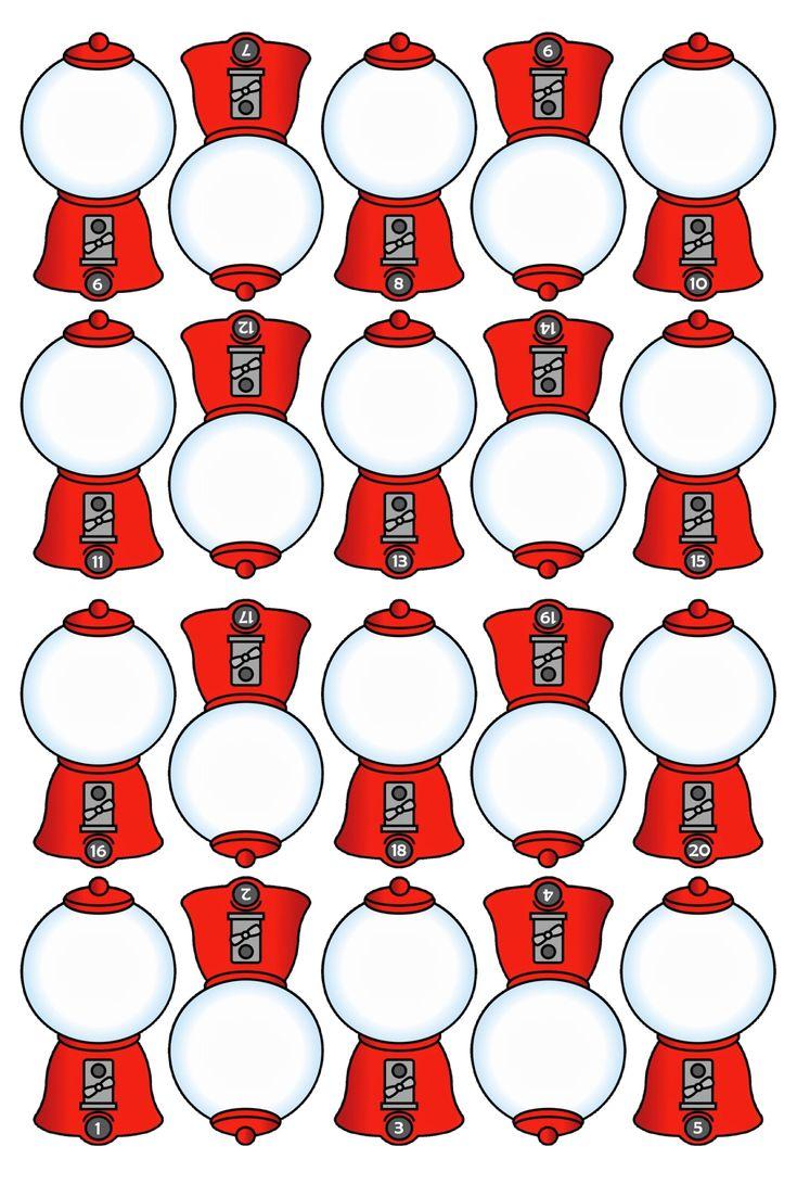 CONTEO Trabajamos los números con estas divertidas máquinas de chicles