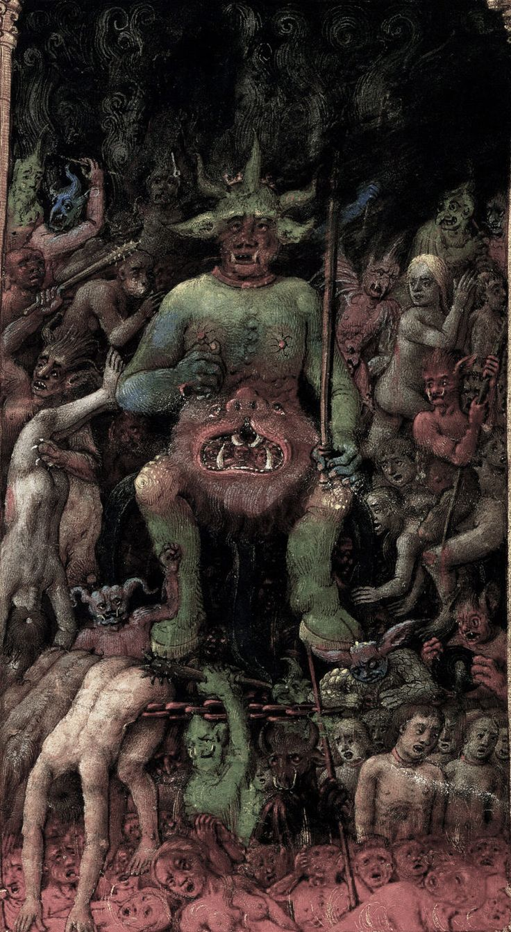 """lunasabatica: """"Lucifer. The Hours of Catherine of Cleves manuscript, circa 1440. """""""
