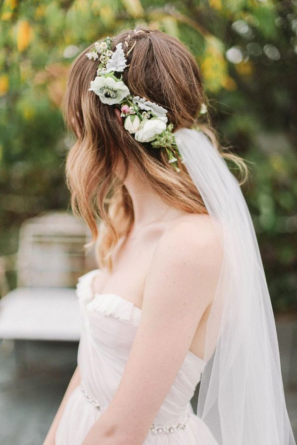Such a pretty veil and crown! I'd go for less veil material. #weddingcrowns