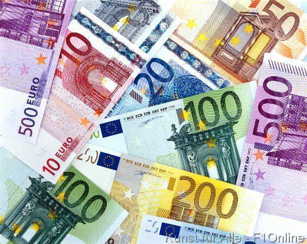 Banknoten Euro, Eurodollar, Geldscheine