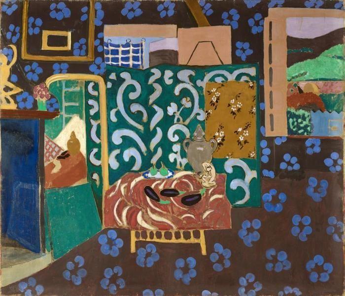 Intérieur aux aubergines - Matisse - musée de Grenoble - 20è - Fauvisme