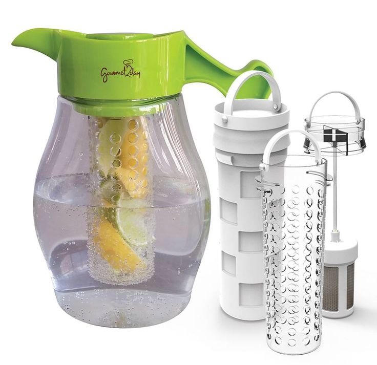 Enhance the flavor of water, tea, punches, cocktails and other beverages with the Gourmet2day Triple Infusion Pitcher.