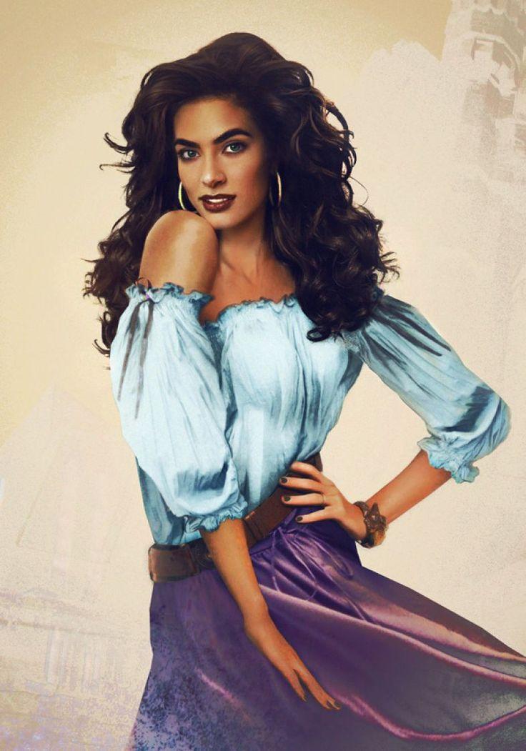 Príncipes e princesas da Disney realistas: Esmeralda, de O Corcunda de Notre Dame. By Jirka Vinse Jonatan Väätäinen
