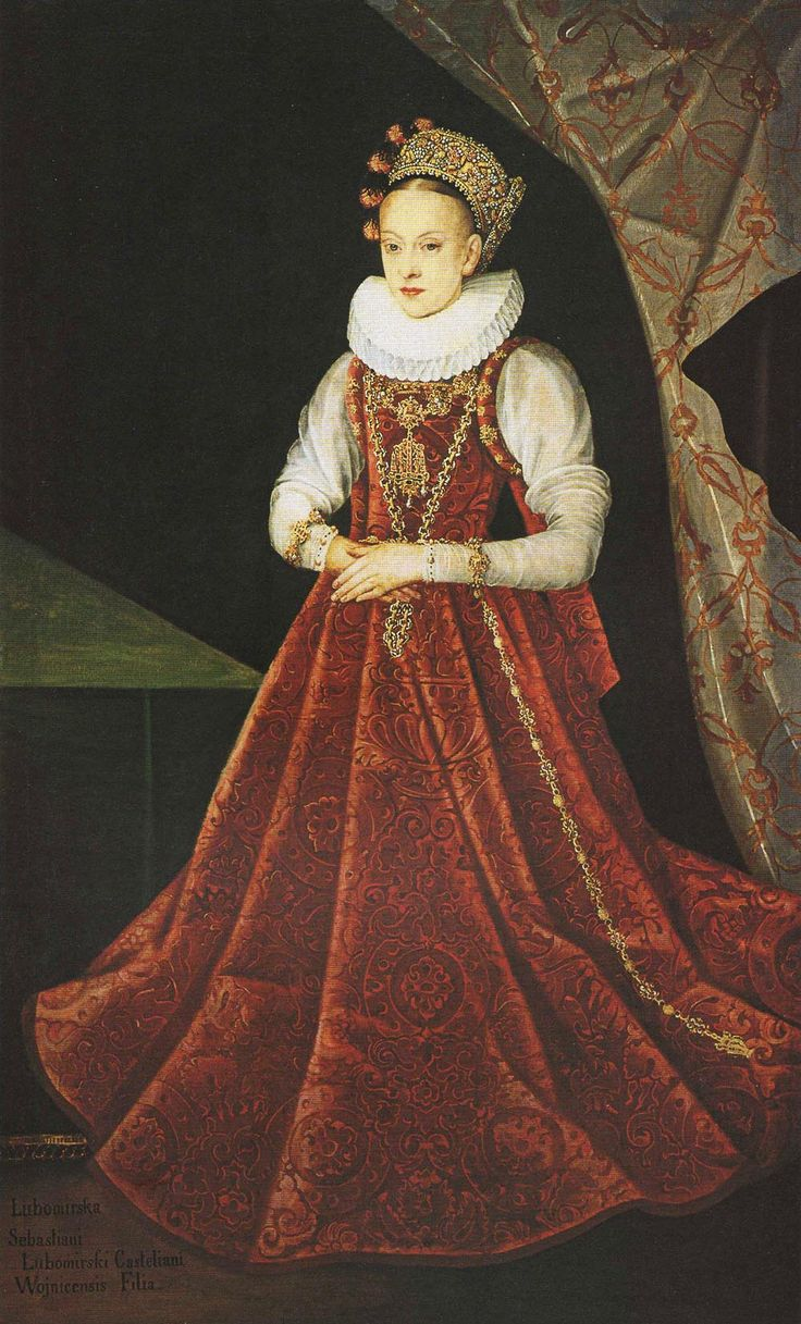 Portrait of the Daughter of Sebastian Lubomirski (unknown painter)