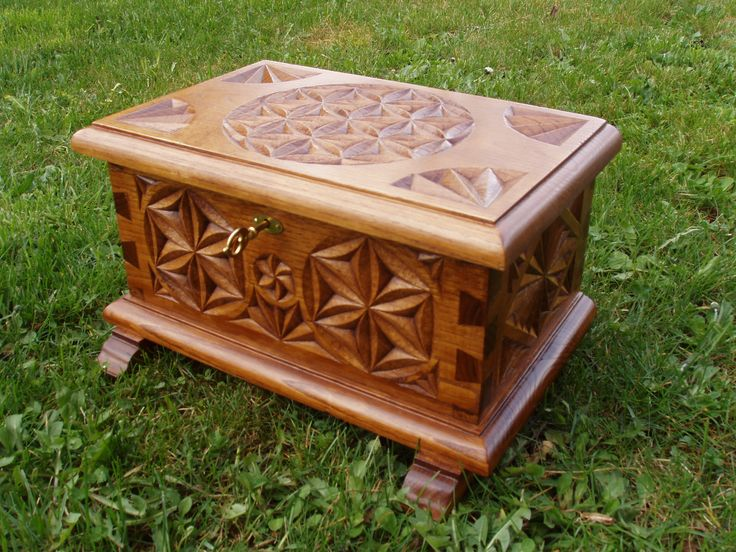 Kit maderas tallar kit de arca en madera de casta o para - Madera de castano ...
