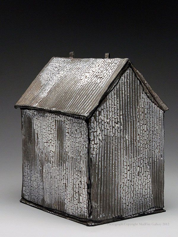 Mary Fischer - Plain Grey House Sculpture