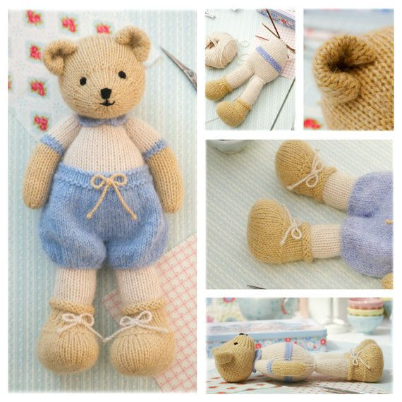New 2 Teddy Bear Knitting Pattern Deal/ by maryjanestearoom