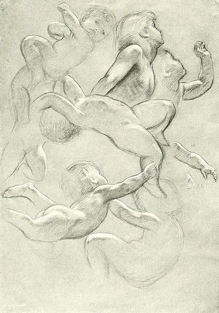 Herbert James Draper(1863-1920), study of cherubs and air-spirits by sofi01, via Flickr
