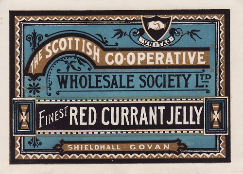 Red Currant Jelly label