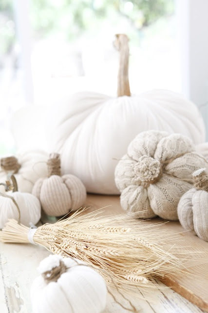 another of DustyLu's photos of my Original Sweet Sweater Pumpkins, published in Better Homes & Gardens Magazine Halloween Special, Fall, 2013.
