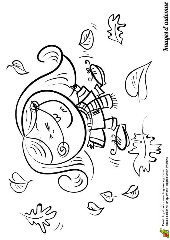 Coloriage / dessin automne petite fille dans les feuilles | Coloriage, Image coloriage, Livre ...