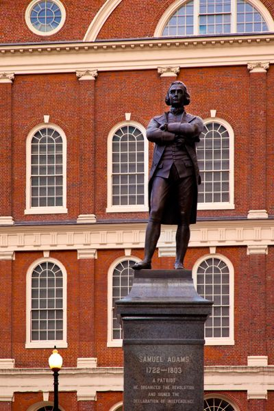 Statue of Samuel Adams in front of Faneuil Hall, Boston Massachusetts