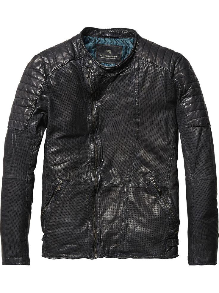 Leather Biker Jacket   Leather Jackets   Men's Clothing at Scotch & Soda