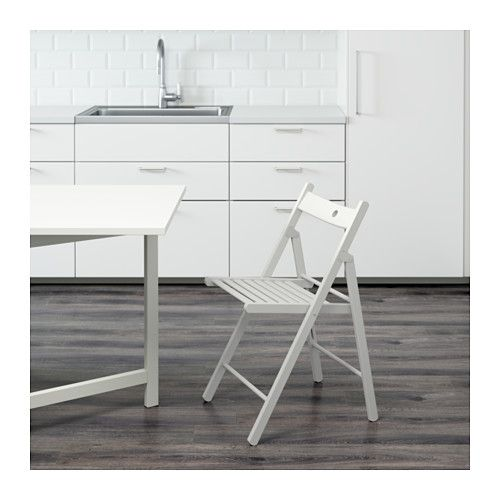 TERJE Folding chair IKEA You can fold the chair, so it takes less space when you're not using it.