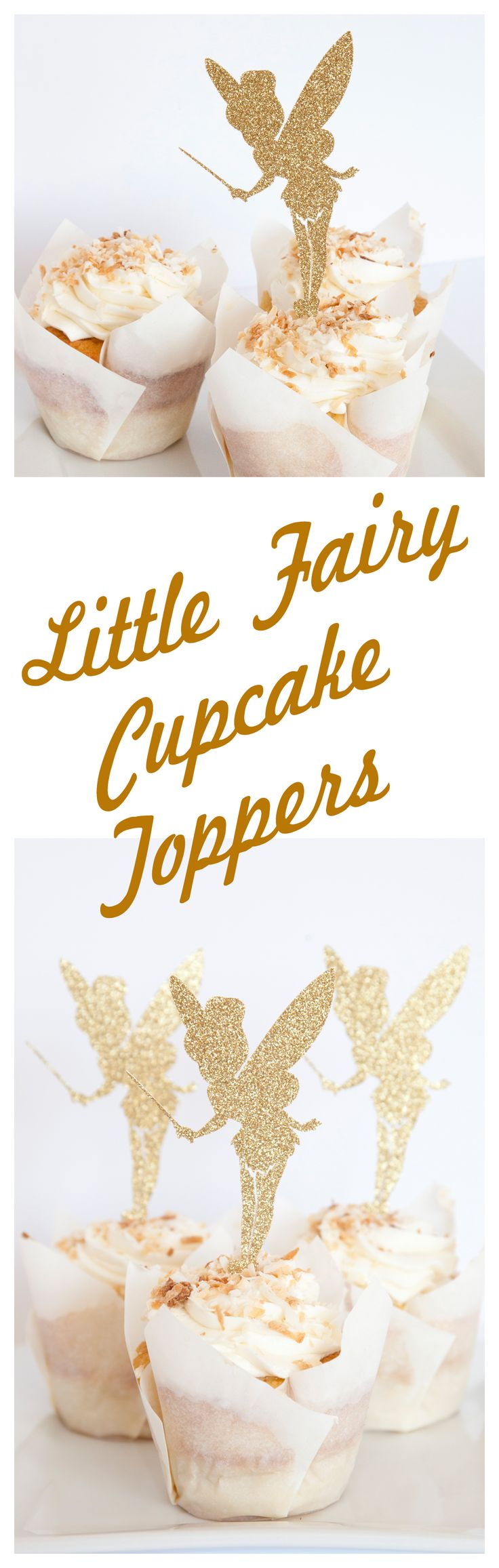 Fairy Cupcake Toppers from Melinda Bryant Photo on Etsy. These are perfect for your little girl's fairy or pixie themed birthday party.  Click on the photo to shop for these and many other glitter cupcake toppers for any occasion.  // ideas, supplies, decorations, tinker bell, products, fun, decor, themed #melindabryantphoto #fairybirthdayparty #partyplanning