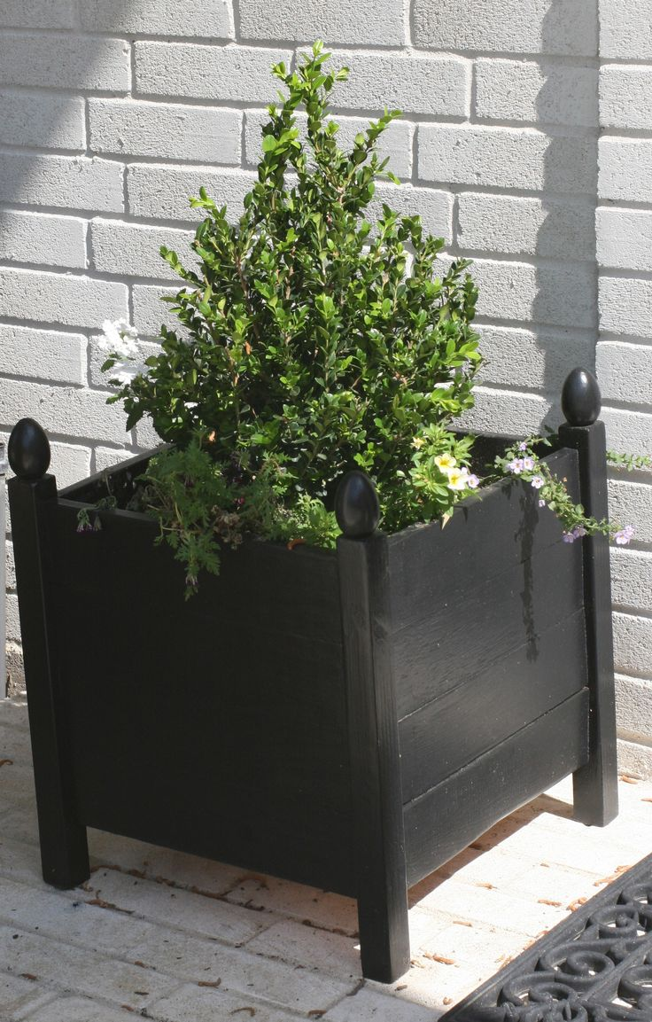 1000 ideas about square planters on pinterest wood. Black Bedroom Furniture Sets. Home Design Ideas