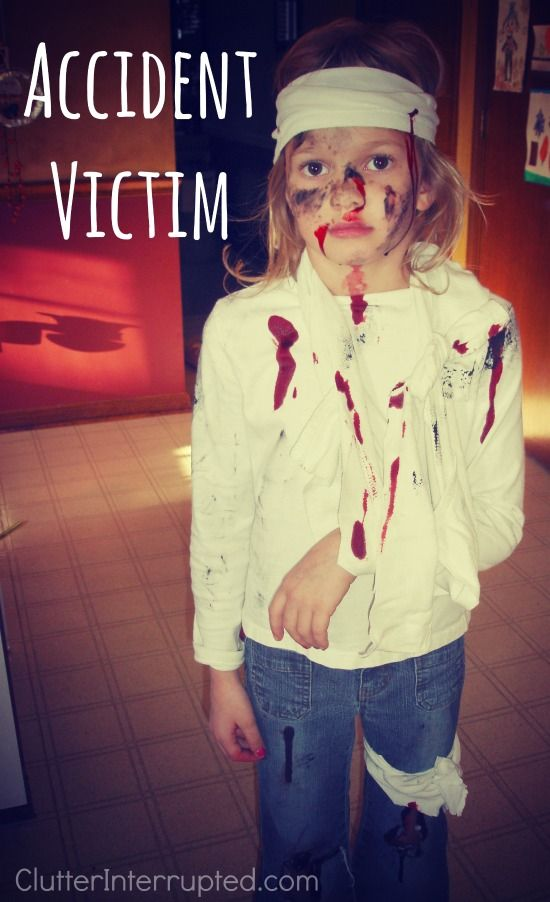 the accident victim is an easy and cheap halloween costume that my kids love gauze - Kids Cheap Halloween Costumes