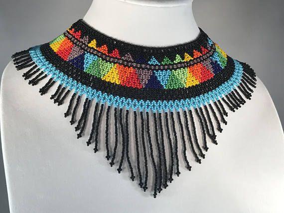 Beaded Aztec Necklace