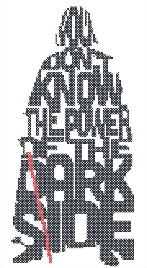 BOGO FREE! Cross stitch - STAR Wars Darth Vader -pdf cross stitch pattern - pdf…