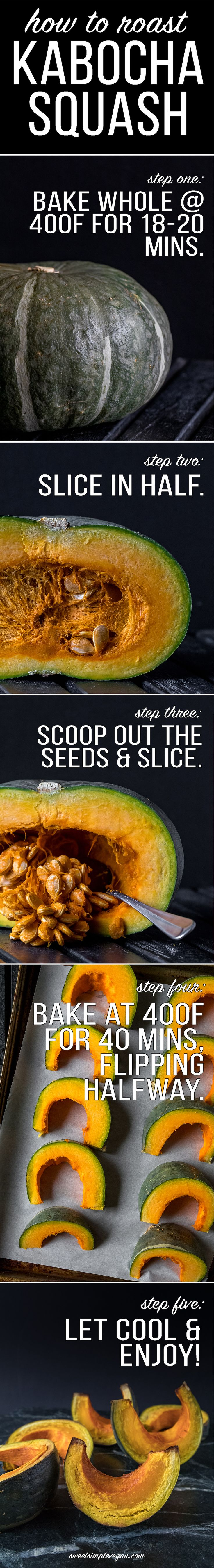An fool proof way to prepare kabocha squash + a simple technique on how to make it easier to cut through the hard skin!