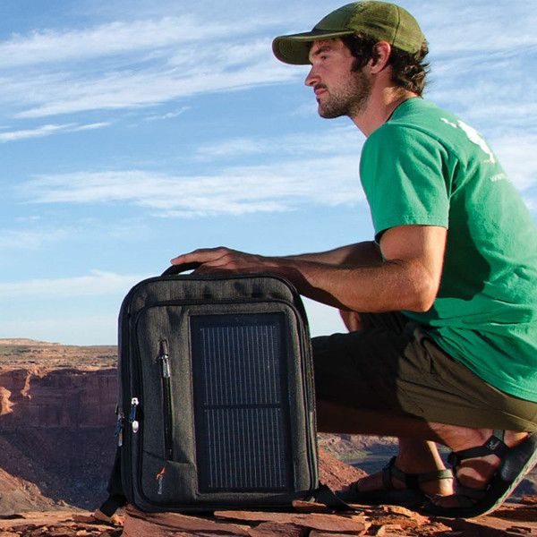 Stay Connected Anywhere Solar Panel Backpack!