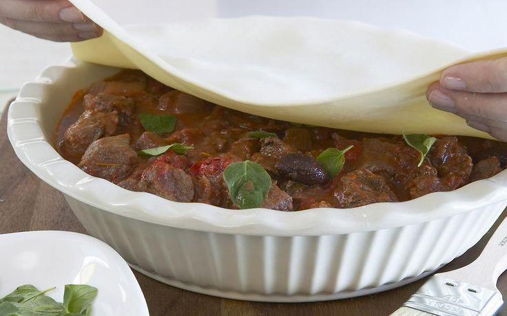 Italian lamb pie