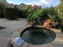 Enjoy the large sunken hot tub                                                                                                                                                     More