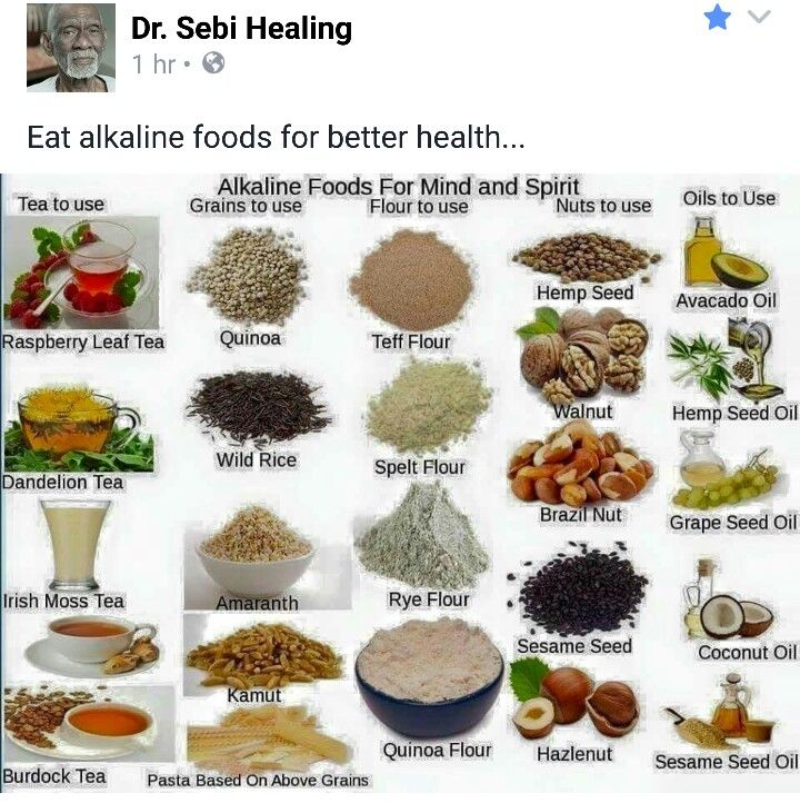 Dr sebi clean foods